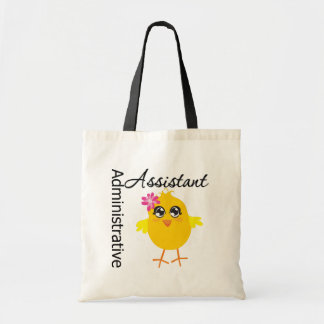 Cute Career Chick Administrative Assistant Canvas Bags