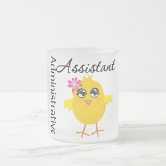 Cute Career Chick Administrative Assistant Frosted Glass Coffee Mug