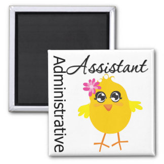 Cute Career Chick Administrative Assistant 2 Inch Square Magnet