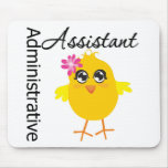 Cute Career Chick Administrative Assistant Mouse Pad