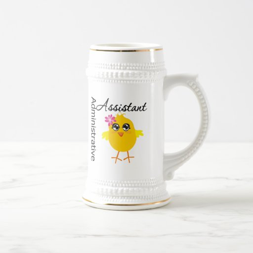Cute Career Chick Administrative Assistant Coffee Mugs