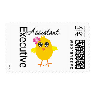 Cute Career Chick Executive Assistant Postage Stamps
