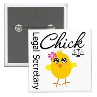 Cute Career Chick - Legal Secretary 2 Inch Square Button
