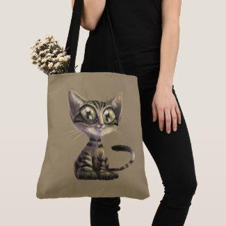 Cute Caricature Cat Cross Body Bag