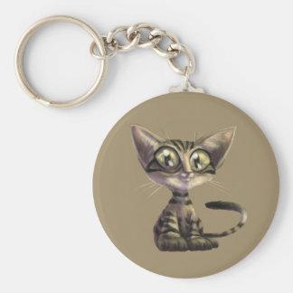 Cute Caricature Cat Keychain