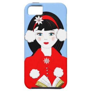 Cute Carol Singer In The Snow Festive Picture iPhone 5 Covers