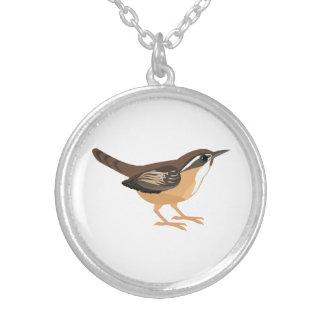 Cute Carolina Wren Silver Plated Necklace