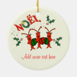 Cute Caroling Crawfish Lobster Christmas Christmas Tree Ornaments