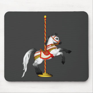 Cute Carousel Horse 1med Mouse Pad