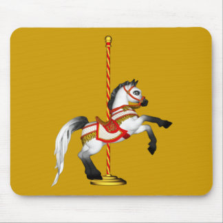Cute Carousel Horse 1med Mouse Pads
