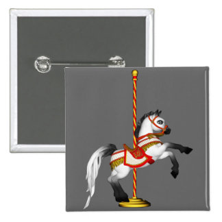 Cute Carousel Horse 1med Pinback Button