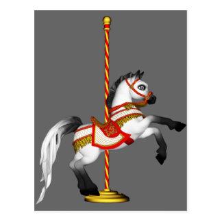 Cute Carousel Horse 1med Postcard