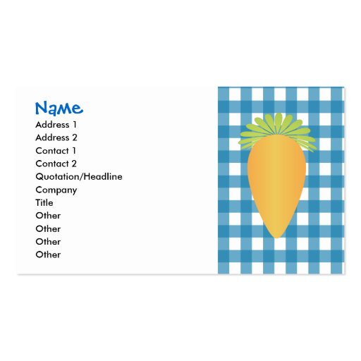 Cute Carrot Double-Sided Standard Business Cards (Pack Of 100)