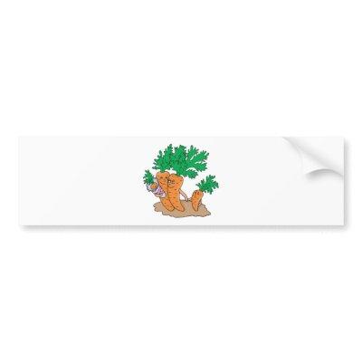 cute carrot cartoon family bumper sticker by doonidesigns