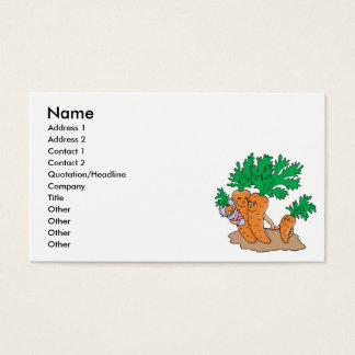 cute carrot cartoon family business card