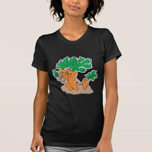 cute carrot cartoon family tee shirts