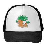 cute carrot cartoon family trucker hat