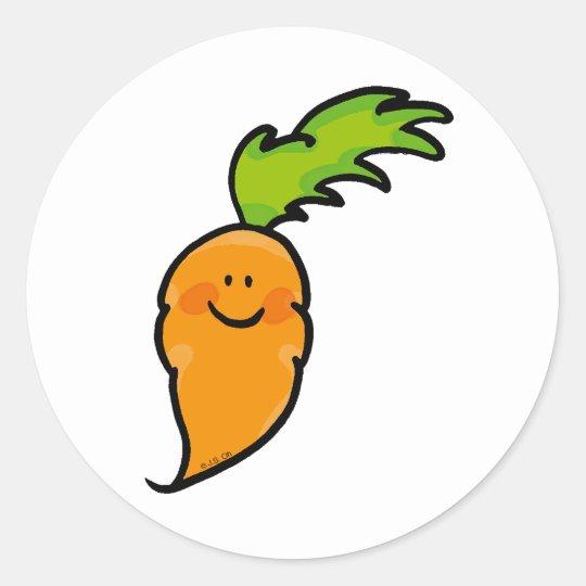 Cute carrot classic round sticker