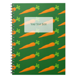 Cute carrot pattern recipe notebook for cooking