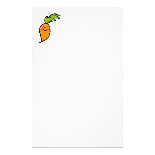 Cute carrot custom stationery