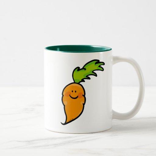 Cute carrot Two-Tone coffee mug