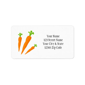 Cute carrot vegetable icon address labels