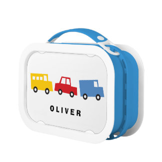 Cute Cars Trucks Buses Trains Boys Toys Lunchbox