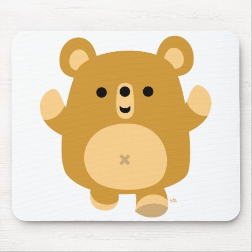 Cute Cartoon Affectionate Bear mousepad