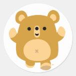 Cute Cartoon Affectionate Bear sticker
