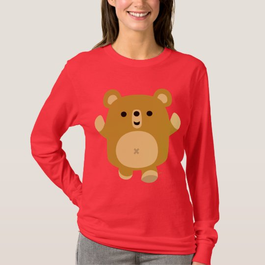 Cute Cartoon Affectionate Bear Women T-shirt