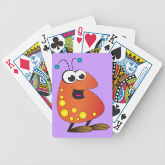 Cute Cartoon Alien Bicycle Playing Cards