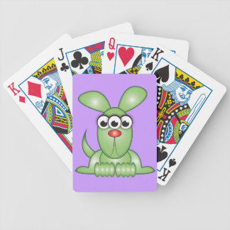 Cute Cartoon Alien Dog Bicycle Playing Cards