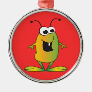 Cute Cartoon Alien invasion Metal Ornament
