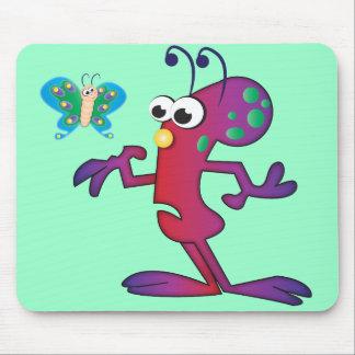 Cute Cartoon Alien Invasion Mousepad