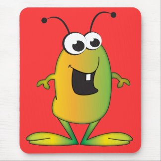 Cute Cartoon Alien Mouse Pad