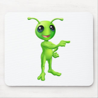 Cute Cartoon Alien Pointing Mousemat
