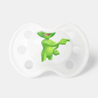Cute Cartoon Alien Pointing Pacifiers
