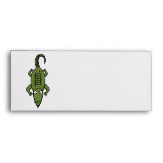 Cute Cartoon Alligator Envelope
