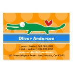 Cute Cartoon Alligator Kid Photo Calling Card Business Card Templates
