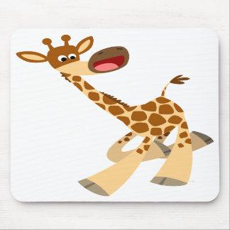 Cute Cartoon Ambling Giraffe Mousepad