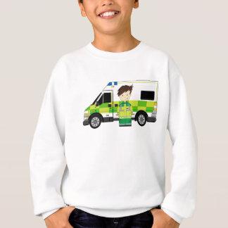 Cute Cartoon Ambulance and EMT Sweatshirt