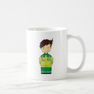 Cute Cartoon Ambulance EMT Coffee Mug