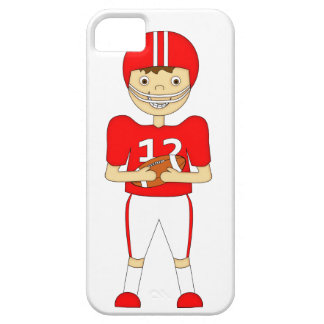 Cute Cartoon American Football Player in Red Kit iPhone 5 Covers
