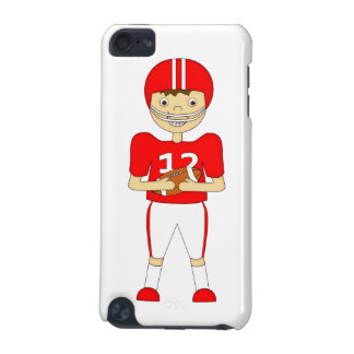 Cute Cartoon American Football Player in Red Kit iPod Touch (5th Generation) Case
