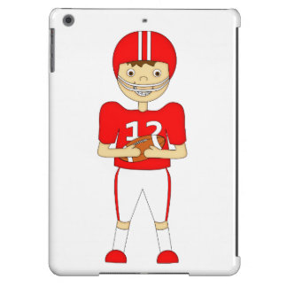 Cute Cartoon American Football Player in Red Kit Cover For iPad Air