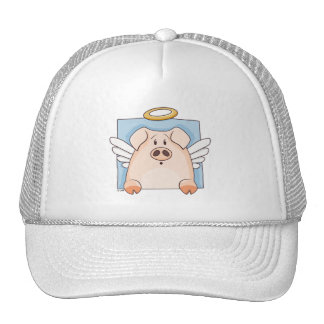 Cute Cartoon Angel Pig Hat