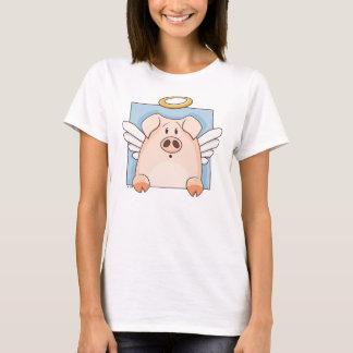 Cute Cartoon Angel Pig T-Shirt