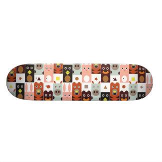 Cute Cartoon animal skateboards Five friends