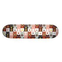 Cute Cartoon animal skateboards: Five friends Skateboard Deck