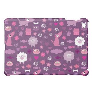 Cute Cartoon Animals Customizable Purple Case For The iPad Mini
